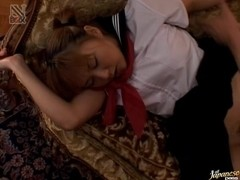 Yui Natsumi Asian babe gets creamed pussy