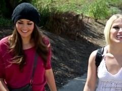 Blonde Ash and brunette Nina act like true lesbians