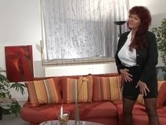 Horny mature big boobs striptease