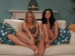 Sex video with two beautiful lesbian chicks