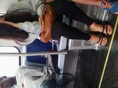 Chinese cute girl inside train