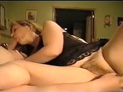 Mature blonde housewife in bed is hungry for my pink pecker