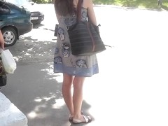 Great summer suit upskirt footage