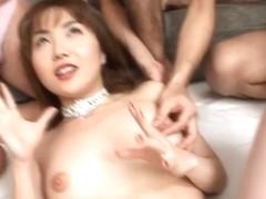 Yuri Terao and Selka Izumi in a hot asian gangbang