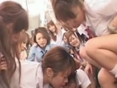 Schoolgirl Bus Orgy censored