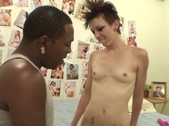Hottest pornstar in fabulous college, interracial sex clip