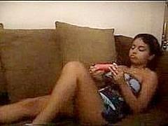 Indian Girl Playing