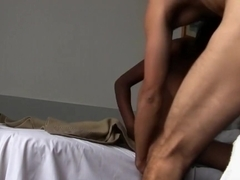 Irresistible black girl passionately sucks and fucks a big white dick