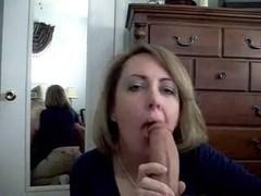Amateur Mom Sucks Cock