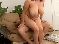 Busty MILF Kitty Lee Sucks and Fucks