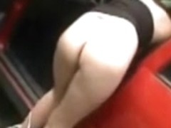 Lucky guy fucking his French chick in public area