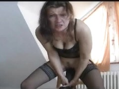 Tramp humping one really huge sex toy