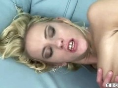 Golden-Haired coed Justine is getting drilled