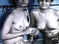 Classic Catfights-Naked G-String Catfight