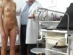 Perverted doctor filming his patients while inspecting them