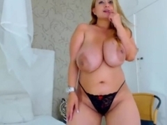 Latina with awesome huge tits