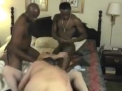 RELOAD COMBINED - Hubby Coaches Hotwife With a Room Full of