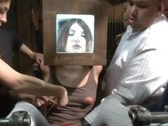 Pain slut surrenders to public ass pounding