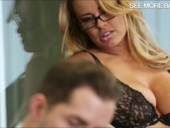 Stunning office girl Corrina Blake pussy banged real good