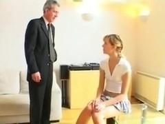 schoolgirl spanked by mr Old