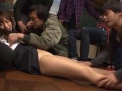 Crazy Gang Bang Leaves Mika Osawa´s Face Cum Soaked