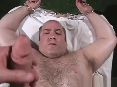 Big Oiled Up Bear Bound and Cock Teased
