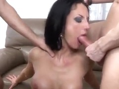 Spicy dusky experienced female Elvira B is making him cum