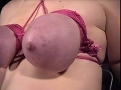 Blindfolded and bounded serf Catherine has her mounds too tied by her dom