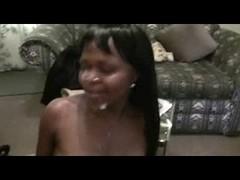 Petite ebony teen fucked hard in POV fuck clip