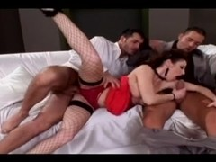 Fishnet Stockings Double Penetration