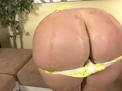 Busty honey takes ebony cock deep inside her