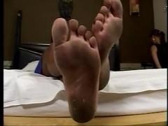 Cruel Mistress wants her dirty feet licked