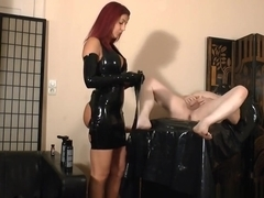 Dominatrix Latex Gloves Fisting Cum