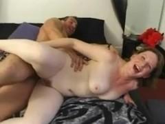Gorgeous Curvy British girl Takes On Two Older Cocks !