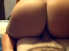Love seeing her ass as she slides up and down on cock.
