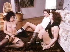 Chelsea Blake, Kelly Nichols, Eric Edwards in hard threesome fuck from the eighties porn
