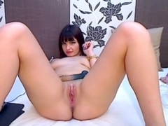 Rubbing my cunt with a cool sex toy
