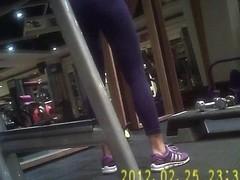 Gym Girl in spandex tight-2