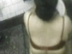 Bangla desi Neighbor Bhabi Bathing  Bathroom Hidden cam