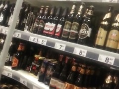 spy sexy mature ass in supermarket romanian