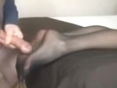 Brother cum on not sister nylon legs