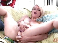 Sweet Blonde Uses Toy