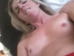 Horny Blonde Bitch And Her Black Cock Dildo