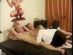 Trio with Golden-Haired Lady-Man