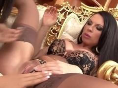 Incredible pornstar Larissa Dee in hottest lesbian, voyeur xxx scene