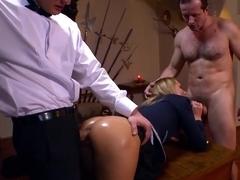 Incredible pornstar Nataly Von in best dp, voyeur porn video