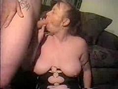 Cum covered mature big tits
