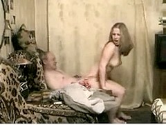 Juvenile russian accompaniment woman satisfies slutty aged mate looking for fresh pussy