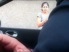 Masturbating near an asian lady