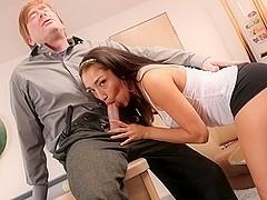 Vicki Chase in My New White Stepdaddy, Scene #03